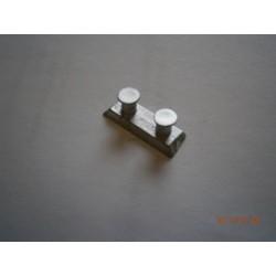 1/72 Modern Bollard with angled base in white metal