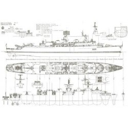 "1/72nd County Class Destroyer Plans ""HMS Fife 1966"""